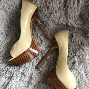 Alice + Olivia Platform Open Toed Heels